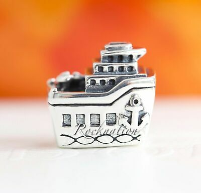 "Authentic PANDORA ""All Aboard "" Sterling Silver Charm 925 CRUISE SHIP 791043"