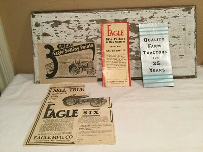 Vintage Eagle Mfg Co. Farm Tractor & Equipment Advertising Brochures And Papers