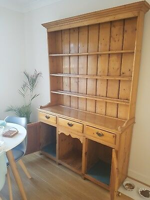 Antique pine welsh dresser with wax finish