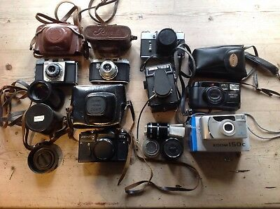 Collection Of Old Cameras