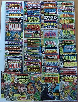 Lot of 56 Mixed/Bulk MARVEL Bronze Age Comic Books 1970's Reader Copy or Better