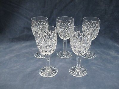 Tyrone Crystal Set of Five Small Wine or Port Glasses