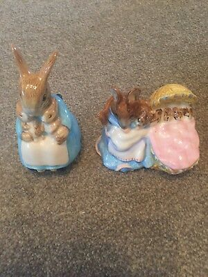 beatrix potter ornaments Mrs Rabbit And Bunnies