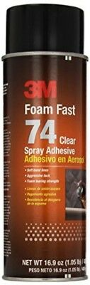 New 3M Foam Fast 74 Spray Adhesive Clear, (Net Fill: 16.9 fl Ounce)(Pack of 1)