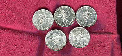 5 1968 Silver Mexico 25 Peso Olympic Coins #1