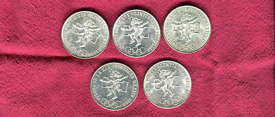 5 1968 Silver Mexico 25 Peso Olympic Coins #3