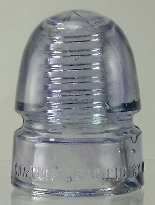Cd 143 Canadian.pacific. Ry. Co - Lavender With Purple Swirls Glass Insulator