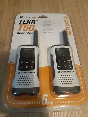 Motorola TLKR T50 PMR 8 Kanäle Two-Way Radio Walkie Talkie Neu+OVP
