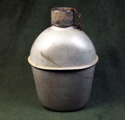 Vintage WWII US Army Aluminum Canteen Marked US S.M. CO