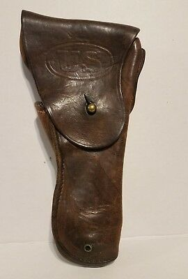 WW2 WWII Original US Army 1911 .45 Pistol Holster, Brown.