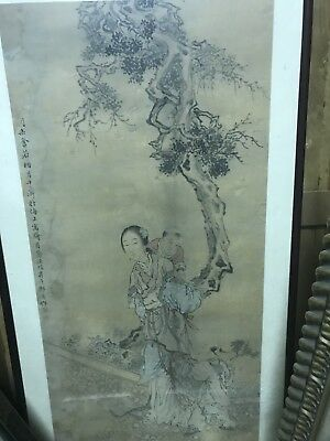 Framed  Chinese Painting Picture Around 1911.