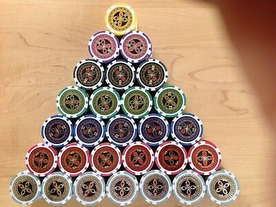 Laser Poker Chips, The Ultimate, Pokerkoffer Pokerset Metallkern 1000 er, 500 er