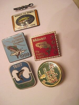 Fly Fishing Midwest Exposition 1998, 1999 and 2000 **Trout  & Rod & Reel Pin