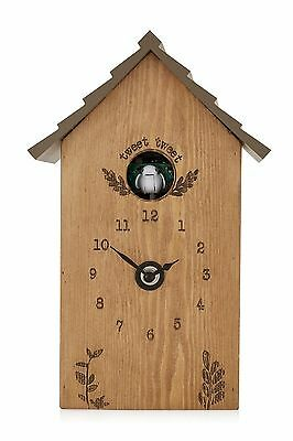 next Rustic Wooden Cuckoo Clock Vintage Shabby Chic Country Cottage Quirky Chime