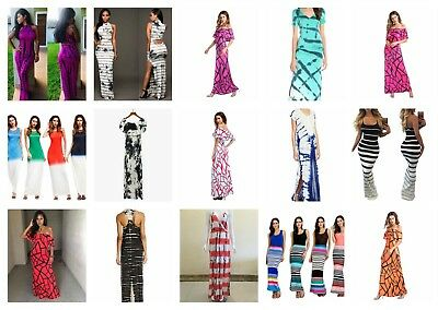US SELLER- wholesale lot of 12 cover ups bohemian maxi long dresses for women