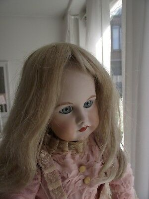 antique Mohair blonde wig for a 25-27 inch doll