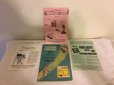 Telephone Book Directory Alleghany County NC August 1964 Sparta Exchange Papers