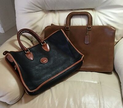 Coach + Dooney and Bourke, 2 Vintage Briefcases, Clean And Pristine, Mint!