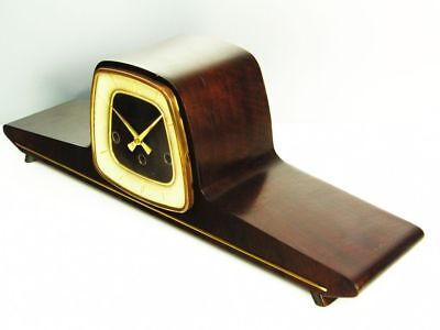 Pure Art Deco Westminster Chiming Mantel Clock From  Hermle