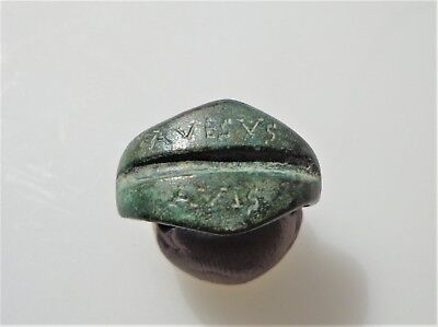 Late Roma Bronze Betrothal/Engagement/ Ring with Inscription.6th-8th Century AD.