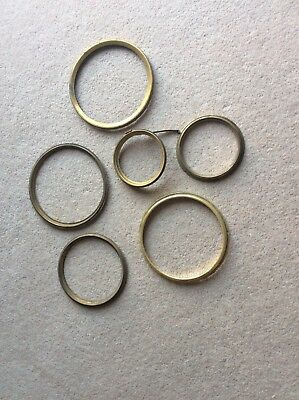Job Lot of Brass Clock Bezels