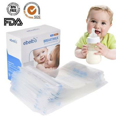 30 Pcs 200ml Seal Breast Milk Storage Bags feeding Freezer BPA Free Sterilised