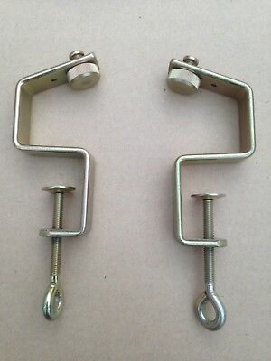 BROTHER KR 850 RIBBER TABLE CLAMPS - EXCELLENT CONDITION (Genuine Brother Parts)