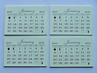 4 Mini 2019 Monthly Tear Off Good Quality Calendar Pads  Backpage Is Cardstock