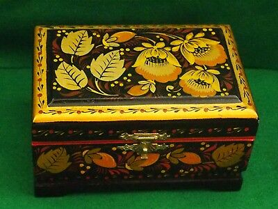Decorative Khokhloma  - Folk Russian Box - See photos for details.