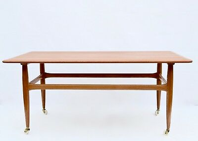 Vintage Mid Century Danish  Coffee Table 1960s Denmark Branded Designer