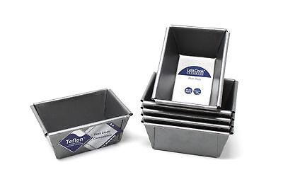Mini Loaf Tins, Set of 6, British Made with Teflon Non Stick by Lets Cook Coo...