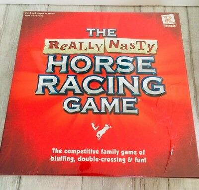 New and Sealed The Really Nasty Horse Racing Board Game Family Bluff Christmas