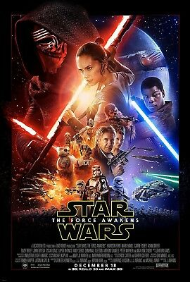 "STAR WARS THE FORCE AWAKENS 2015 Original DS 2 Sided 27x40"" US Movie Poster"