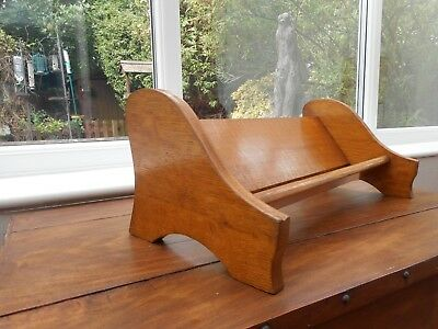 "Vintage  Solid Wood Book Trough 18.25"" (46.5 Cm) Wide 7.25"" (18.5 Cm) High"