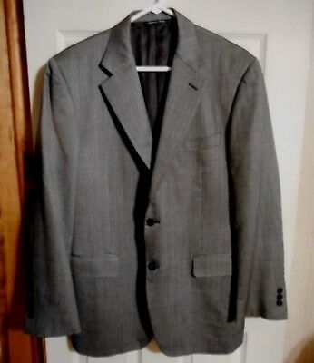 New Nwot Gray Pinpoint  Silk & Wool Sport Coat  /  Canali - Made In Italy  42R