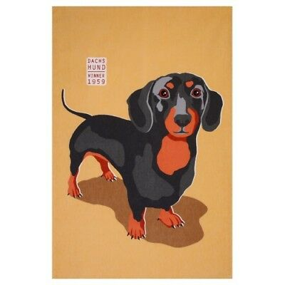 Dachshund Sausage Dog Weiner Dog Cotton Tea Towel Ralf Ulster Weavers BNWT