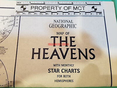 National Geographic Map Of The Heavens Monthly Star Charts