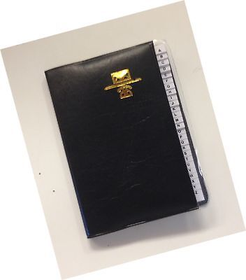 "Kamset Address Telephone Book Small 3.25"" x 4"" Black"