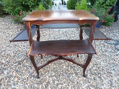 Rare Victorian Mahogany Metamorphic Side Table
