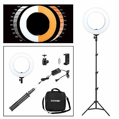 """14"""" LED Ring Light Stand Photography Lighting for Phone Camera Video YouTubeLive"""