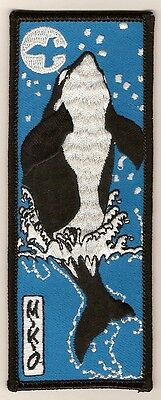 "Patch  ""ORCA - KILLER WHALE"" by MIKIO,  embroidered emblem"