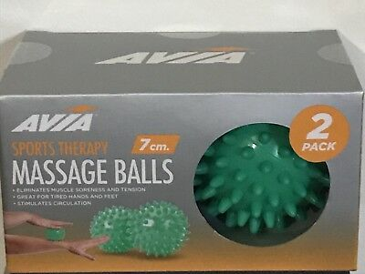 2 Pk Spiky Massage Ball Deep Tissue Trigger Point Muscle Sports Therapy Massager