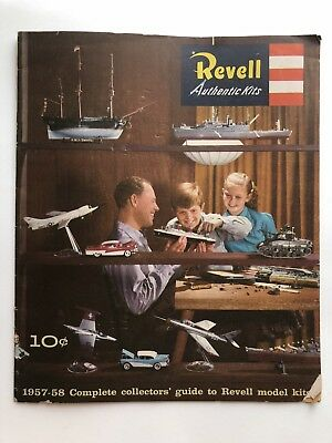 1957-58 Revell Collectors' Guide to Model Kits Catalog Ships, Airplanes and Cars