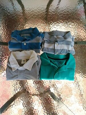Lot Of 2 Old Navy Short Sleeved Striped Polos Men's Size Large