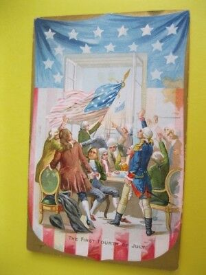 Antique Postcard Tucks 'first Fourth Of July'