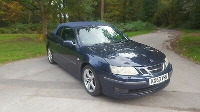 2004 Saab 9-3 2.0 T Vector Convertible Manual Blue With Blue Roof