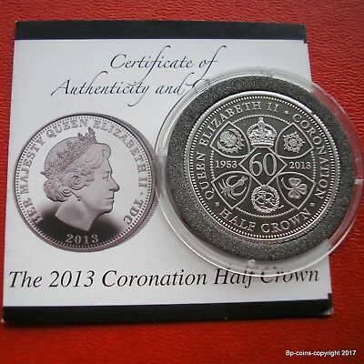 Tristan Da Cunha 2013 Coronation Half Crown With Certificate Of Authenticity.