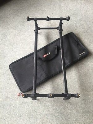 JRC Contact SQR 3 Rod Pod & Case - Compact Used Carp Fishing Tackle Set Up