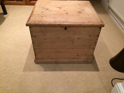 Antique Pine Box/blanket Box