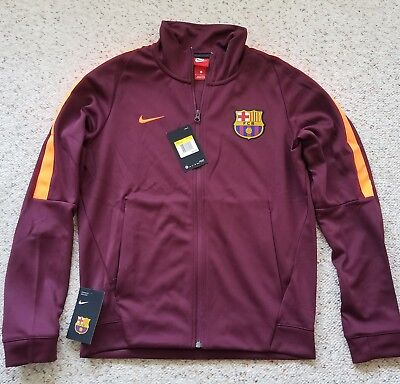 bbca55498 NIKE FC BARCELONA Soccer Franchise Track Jacket (883449-685) Maroon Mens  Small - $64.99 | PicClick